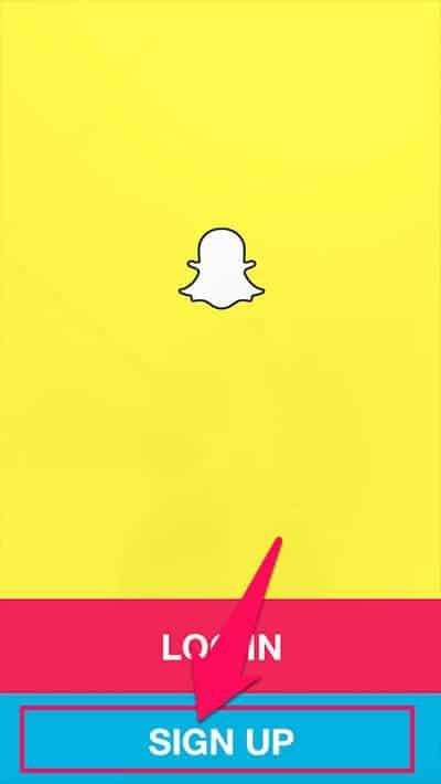 sign up snapchat account