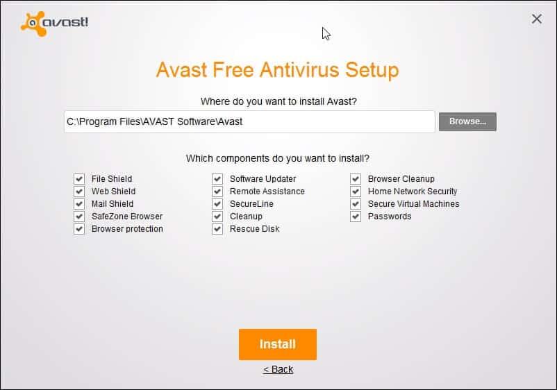 avast free antivirus setup