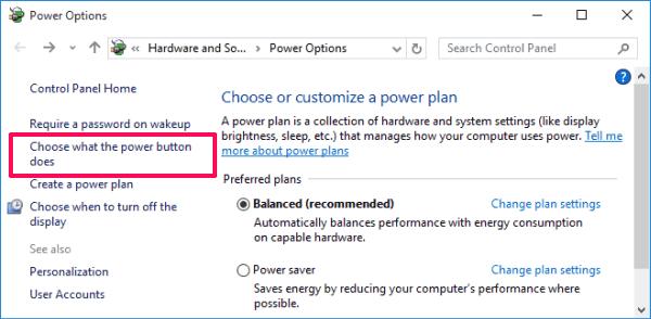 enable hibernate windows 10
