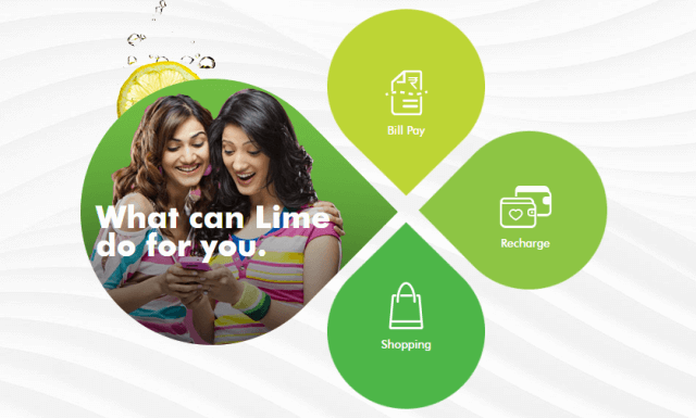 lime wallet axisbank