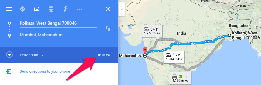 How To Get Directions From One Place To Another On Google Maps - Map my route google maps
