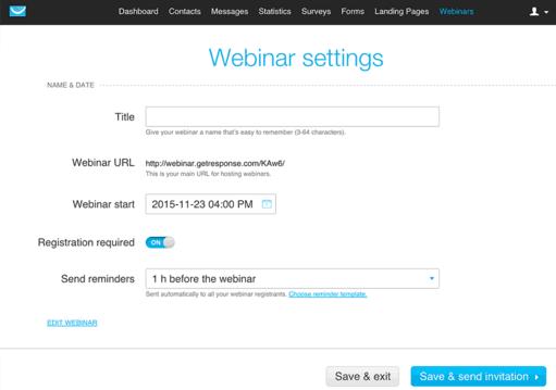 webinar settings