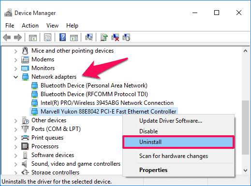 ethernet doesn't have a valid ip configuration windows 10