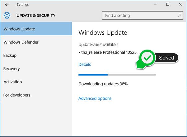windows update stuck at 0