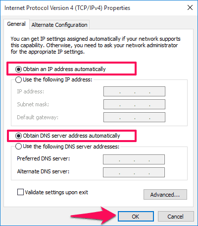 wireless network connection doesn't have a valid ip configuration