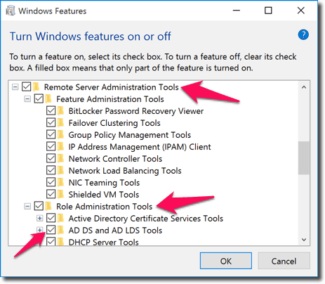 Install Active Directory Users and Computers for Windows 10
