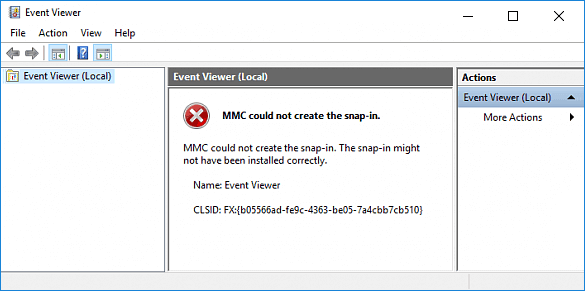 how to fix MMC could not create the snap-in Windows 10