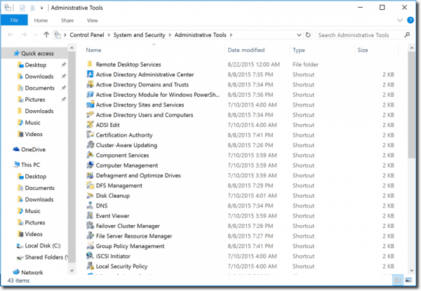 remote server administration tools windows 10