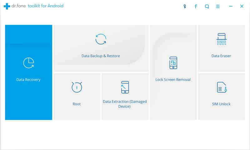 Dr Fone - Android Data Recovery: Recover Deleted Files from