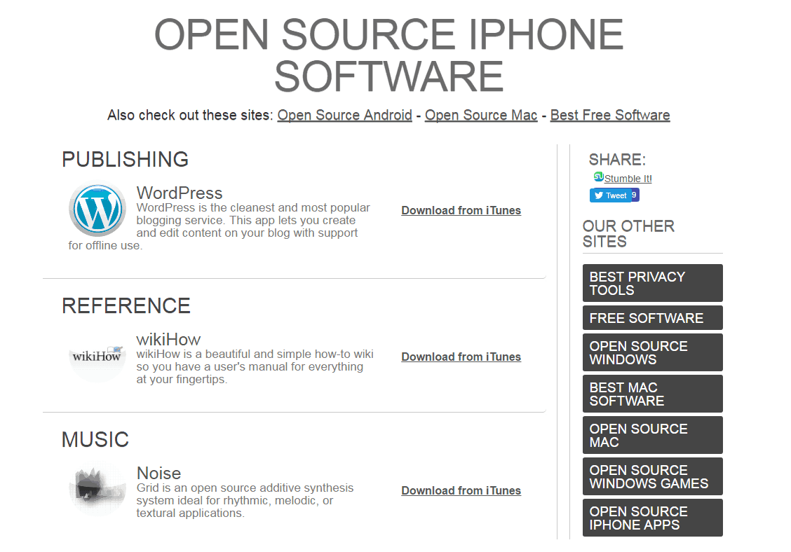 open source iphone software