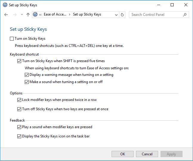 change windows 10 keyboard settings