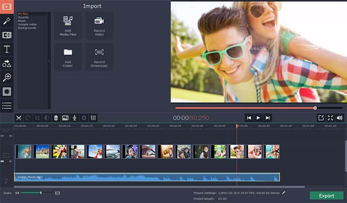 crop video movavi video editor