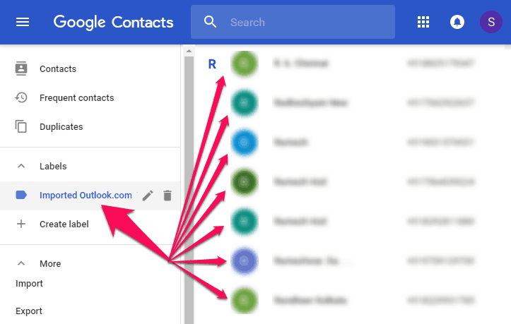 import outlook contacts into gmail account