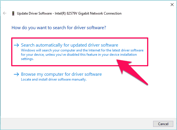 update driver software windows 10
