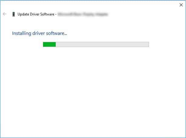 installing driver software