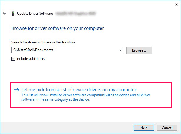 let me pick for a list of device drivers on my computer