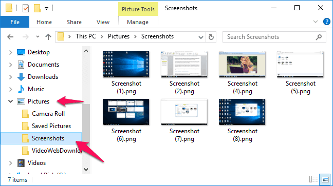 how to screenshot on pc