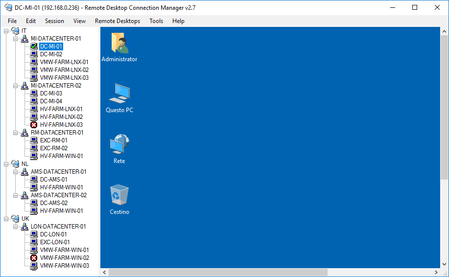 remote desktop connection manager 2.7