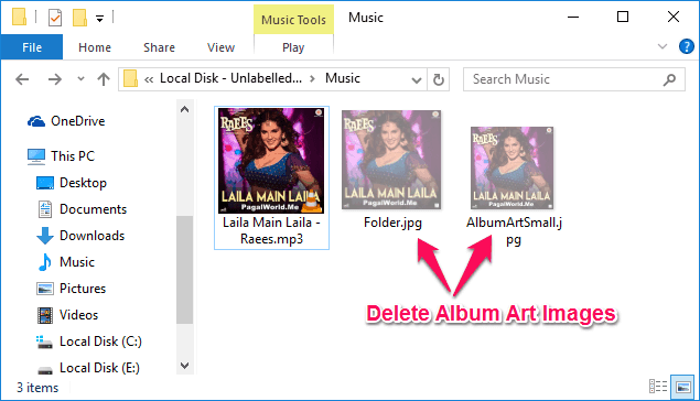 remove album art images embedded in mp3 files