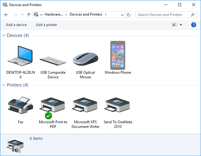 change the name displayed for network printer