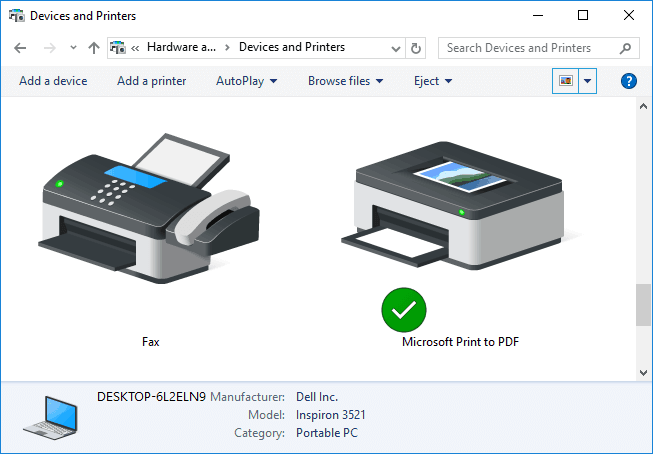 windows 10 printer