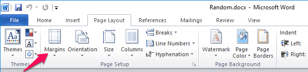 change orientation of one page in word