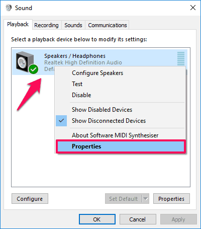 how to make laptop speakers louder windows 10
