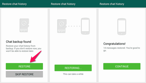 whatsapp chat backup