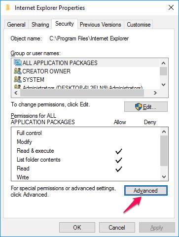 windows 10 administrator permission