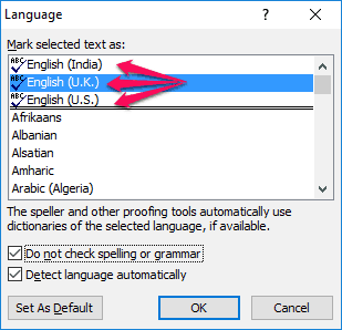grammar and spell check