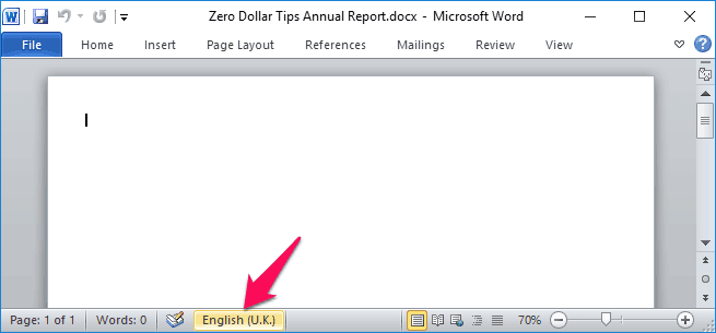 word spell check not working