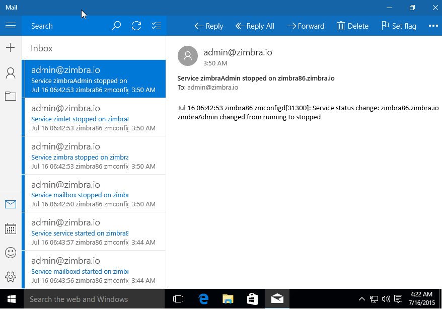 zimbra desktop email client for windows 10
