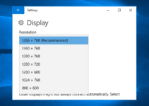 can't change screen resolution in windows 10