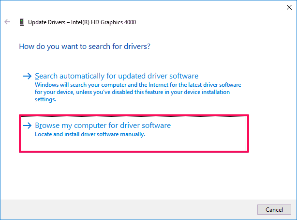 How To Install Screen Resolution In Windows 10 Fix Cannot
