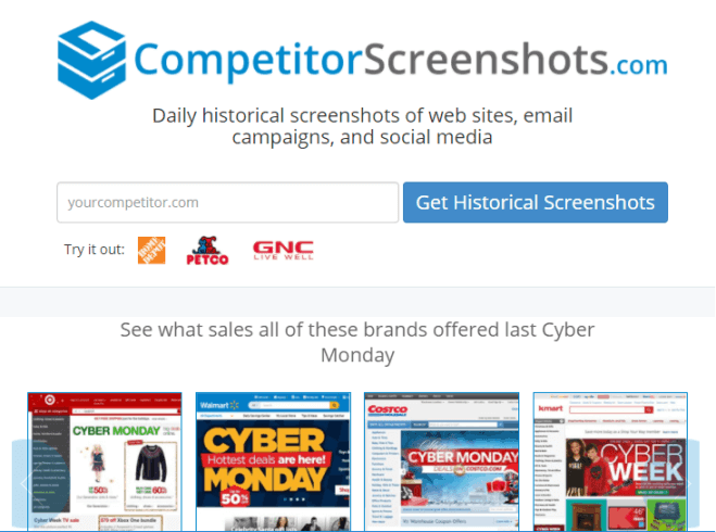 Competitor Screenshots