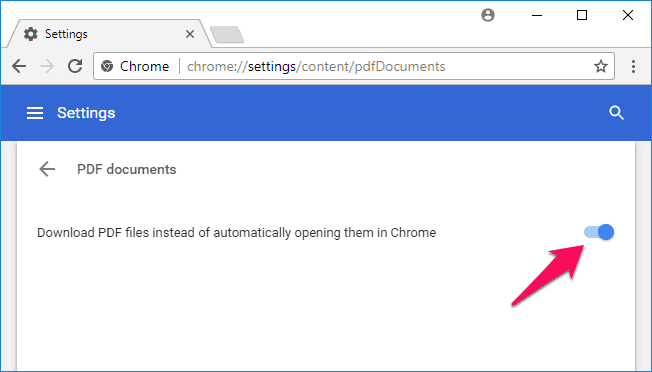 how to disable chrome pdf viewer