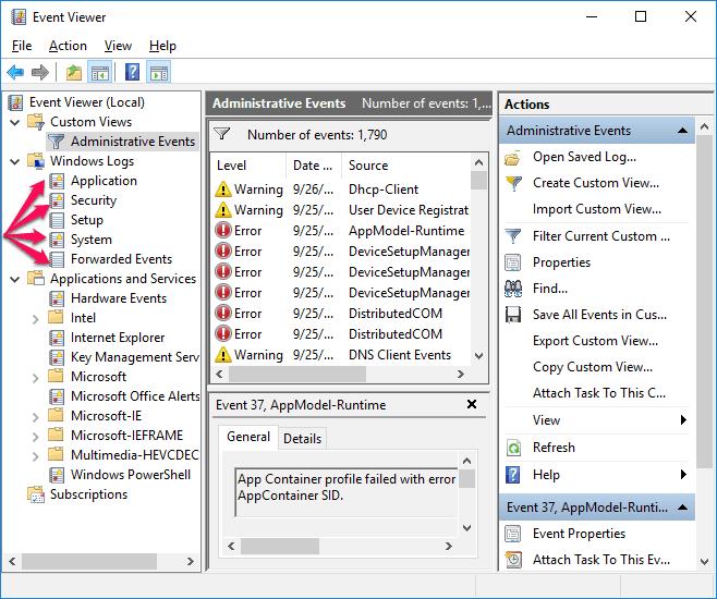 how to find windows 10 crash logs