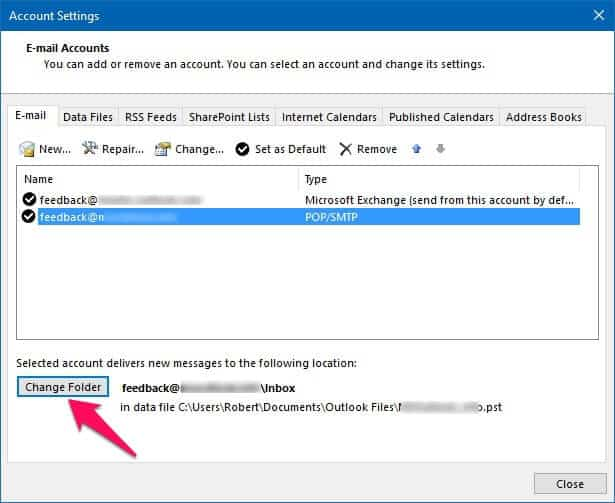 how to fix outlook data file cannot be accessed