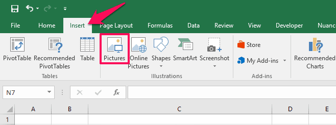 how to insert picture into excel cell 2016