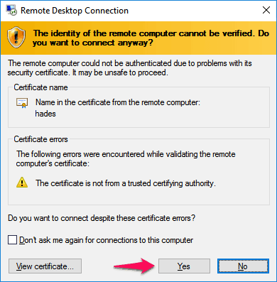 how to use remote desktop connection in windows 10