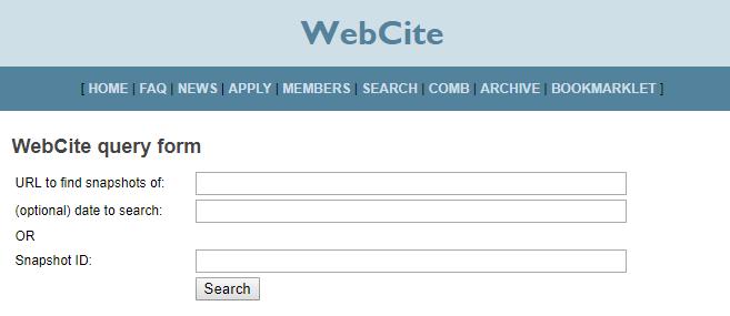 WebCite Archive