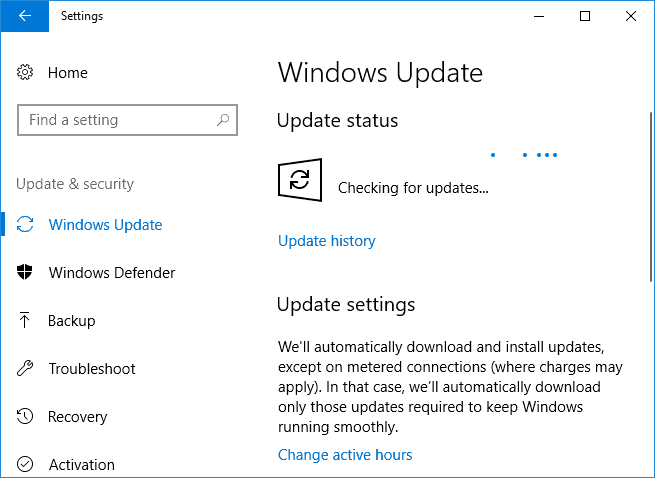 how to check for windows updates in windows 10