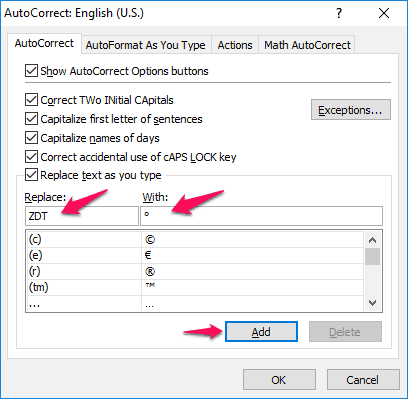 How To Insert Degree Symbol In Excel 2016 2013 2010