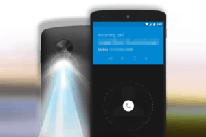 turn on flashlight notification on android