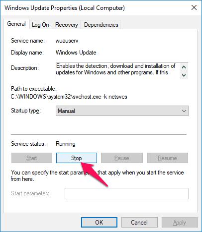 clear windows 10 update cache