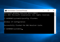 flush dns windows 10