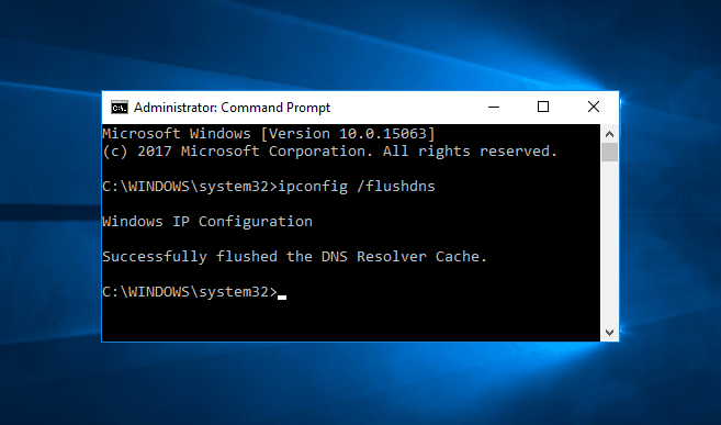 flush dns windows 10
