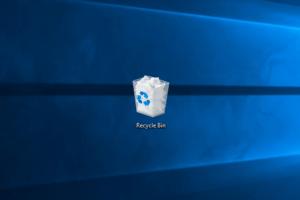 remove recycle bin from desktop