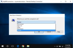 restart remote desktop