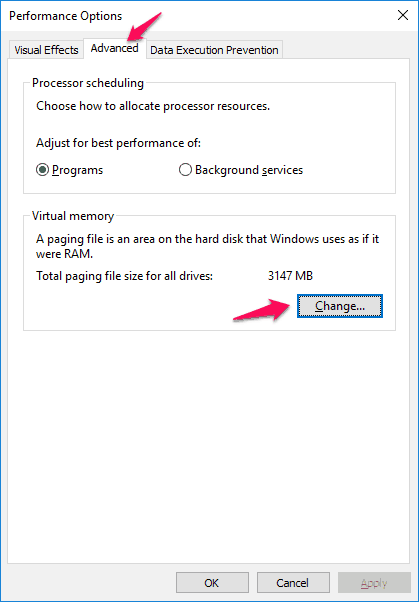 what is page file in windows 10